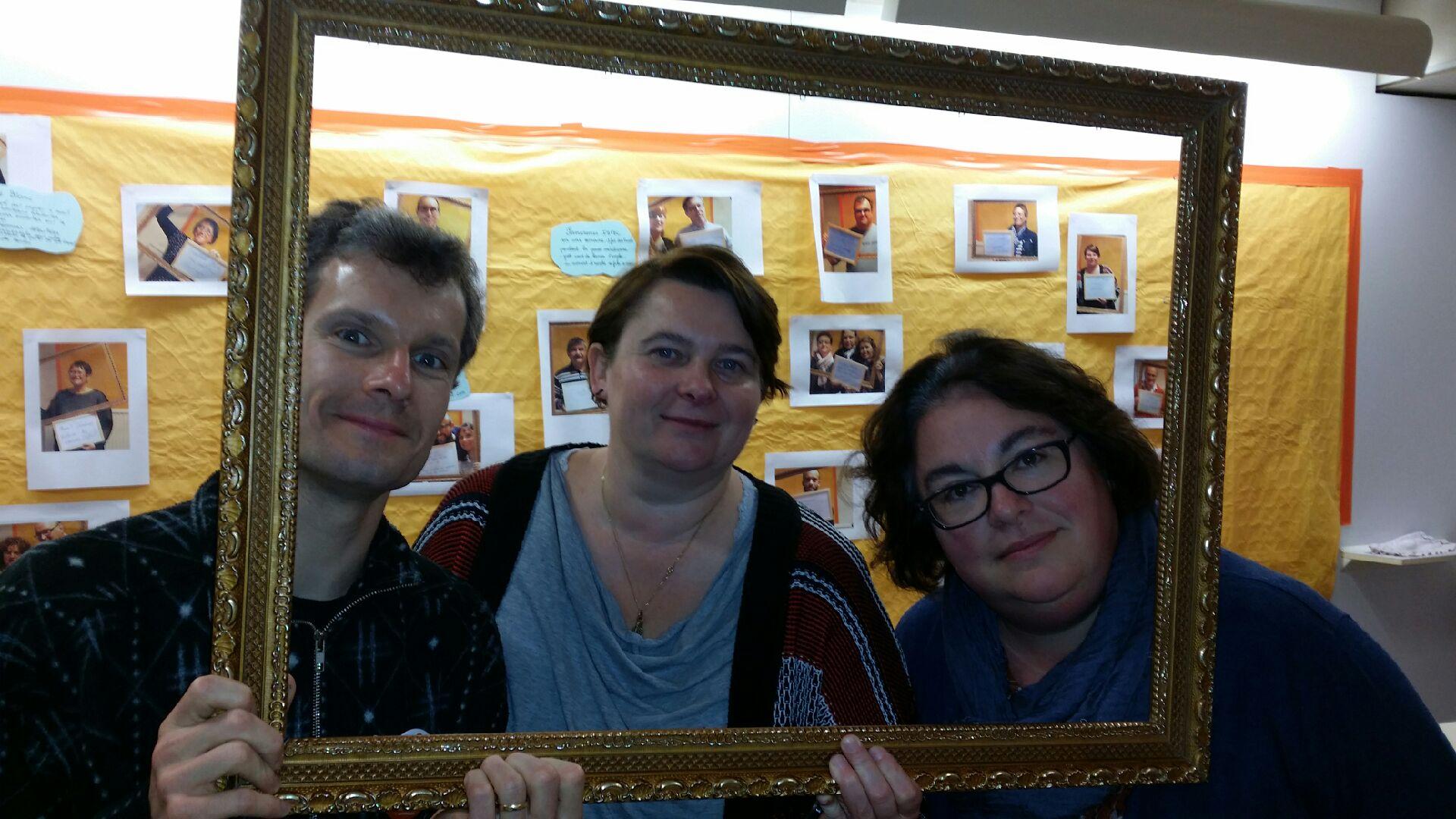 Damien, Ingrid et Sophie à Bierville